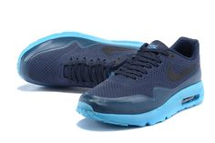 free shipping 8ab46 1d727 Nike Air Max 1 Moire Midnight Ultra Formateurs Marine Bleu Noir TAILLE Euro  40-46 US 7-12 724390-008