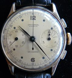 Universal Geneve Uni-Compax #luxurywatch #Universal-Geneve Universal Geneve Swiss Watchmakers watches #horlogerie @calibrelondon
