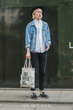 Men's street style | Scandi Cool - Everything about this look shouts effortlessly cool. Don't forget to through on a retro bucket hat for extra style points. | Shop the look at The Idle Man
