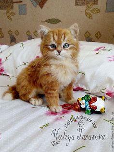 Игрушки животные, ручной работы. Ярмарка Мастеров - ручная работа. Купить Котёнок.. Handmade. Котенок, кошка, авторская игрушка, подарок