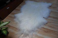GIANT SHEEPSKIN Iceland White Throw Genuine by TrendingSlippers, $62.00