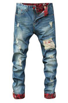 Ripped Skinny Denim Jeans