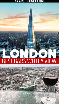 When you're in London, how could you not want to soak in all the incredible views? Check out the best bars with a view to visit in London. You won't be disappointed! Save this to your travel board.