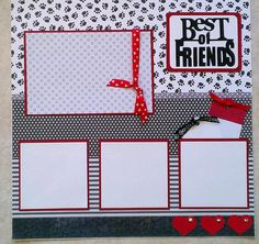 Pets Best of Friends Dog Cat Animals 12x12 by ohioscrapper, $15.00