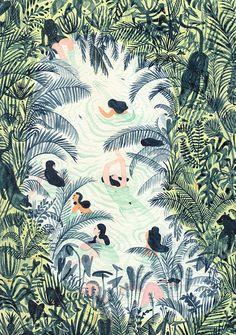 Todays mini colour crush features the beautiful work of Monica Ramos . (image above copyright of Monica Ramos) x x x Art And Illustration, Illustration Inspiration, Illustrations Posters, Spring Painting, Art Design, Graphic Design, Oeuvre D'art, Art Inspo, Illustrators