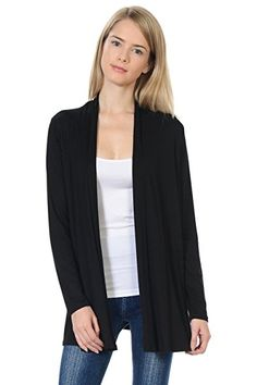 7f1277bf Pastel by Vivienne Women's Long Sleeve Jersey Cardigan Large Black  #lifestyle #products #women