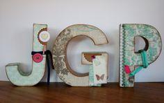 lletres per decorar habitació infantil, DIY, scrapbooking, home decor