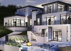Modern mansion design ideas dream home ideas mansions design luxury Big Modern Houses, Modern Mansion, Dream Home Design, Modern House Design, Big Mansions, Luxury Mansions, Dream Mansion, Luxury Homes Dream Houses, Luxury Life
