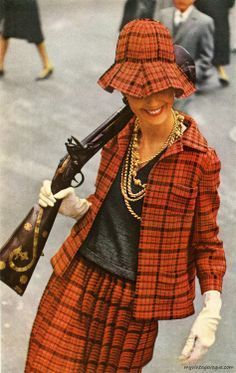 Harper's Bazaar February 1963 photo by Saul Leiter.... what's with the gun?  Not needed; it detracts from the awesomeness!