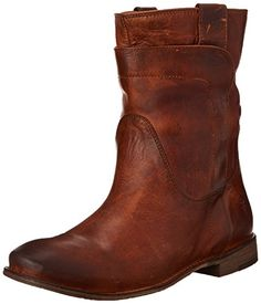 "FRYE Women's Paige Short Riding Boot #shoes   FRYE Women's Paige Short Riding Boot Smooth leather upper with overlapping leather detail. Pull tabs for easy on and off. Round toe style ankle boot. Leather lined for all day comfort. Stacked leather heel with rubber tap. Leather sole. Measurements: Heel Height: 1"", Circumference: 13"", Shaft: 8""  http://www.theshoespack.com/frye-womens-paige-short-riding-boot/"