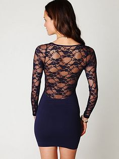 Lace Back Dress -- I love this!