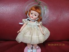 CIRCA 1952 VINTAGE VOGUE STRUNG GINNY DOLL/ & HER RARE SMOCKED OUTFIT STUNNING  #DollswithClothingAccessories