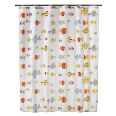 There is orange and blue in this shower curtain too. I guess it is not such a crazy combination.