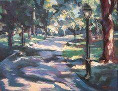 Central Park Painting  11 x 14 Original by CapturedOnCanvas, $85.00