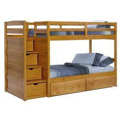 Ravens Contemporary Twin over Futon Bunk Bed Bunk Beds & Loft