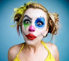 Cool Halloween makeup clown makeup for women DIY halloween costume ideas