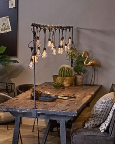 Probably not for my current apartment because I'm not sure where it would go, but I love the aesthetic! I think this would make a fun office/craft table someday? Decor, Home Accessories, Restaurant Decor, Interior, House Interior, Furniture Makeover, Lunch Room, Outdoor Dining, Backyard Living
