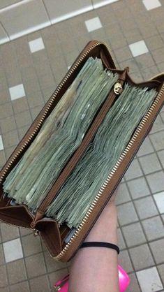 Money Gift Ideas For Her - Money Cash Business - Real Money Stacks - - Money Manifestation Rituals Cash Money, My Money, How To Make Money, Money Meme, Gold Money, Hide Money, Teen Money, Lots Of Money, Money Stacks
