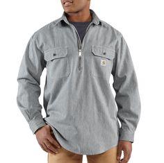 Carhartt Mens Hickory Stripe Shirt 100092 Hickory Stripe