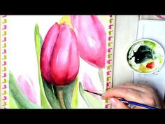 Watercolor Painting Impressionistic Tulips with Winsor and Newton Watercolors - YouTube