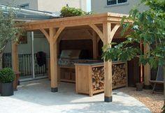 Overkapping eikenhout - buitenkeuken shop voor alle buitenkeukens van ...