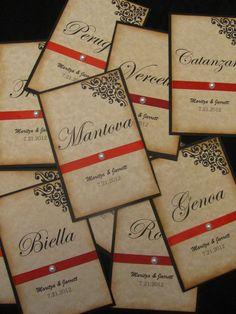 Items similar to Vintage Inspired Italian Wedding Table Numbers , Wedding Table Cards on Etsy Wedding Paper, Diy Wedding, Wedding Reception, Dream Wedding, Wedding Ideas, Italian Wedding Themes, Italian Theme, Italian Weddings, Italian Party