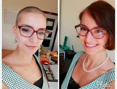 Alternate title: bald, or how I learned to stop worrying and shave my head Shave My Head, Ideal Beauty, Very Short Hair, Girls With Glasses, Cool Haircuts, Shaving, Pixie, Short Hair Styles, Shaved Heads
