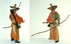 Procession of Mounted Archery. Costume.   Mounted Archery called Yabusame was encouraged as a marshal art during the Kamakura period.
