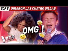 GIRARON TODAS las SILLAS con sus IMPRESIONANTES voces en La Voz Kids - YouTube Musical, Baseball Cards, Youtube, Good Life, Chairs, Songs, Youtubers, Youtube Movies