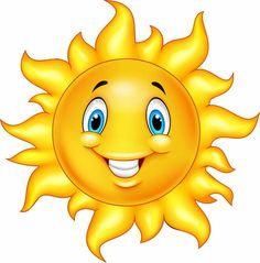 Cute cartoon sun vector image on VectorStock Cartoon Sun, Cute Cartoon, Sun Painting, Emoji Images, Cute Sun, Smileys, Cute Images, Coloring Pages, Vector Free