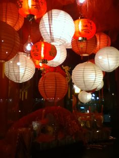 Beautiful window display for the Chinese New Year at 24e in Savannah, GA