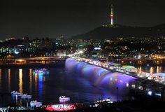 Banpo Bridge and Namsan Tower