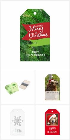 Zazzle Christmas - Gift Tags  Choose from a variety of gift tags in this collection. Or, choose them all. Each one is special and will add a lovely look to your gift. At least, @auntieshoe thinks so!