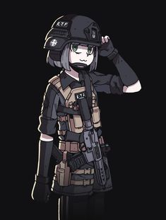 Anime Military, Military Girl, Character Inspiration, Character Art, Character Design, Guerra Anime, Rainbow Six Siege Anime, Kawaii Anime Girl, Anime Girls