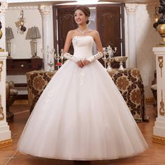 2014 lace wedding dress sweetheart  princess  strapless formal off the shoulder dress white Ball Gown for women WD0532 US $87.90