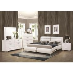Porter Contemporary 5 Piece Bedroom Set (Porter Contemporary 5 PC Queen Set),  Grey Metallic