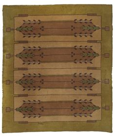 Frank Lloyd Wright Rugs | 1903, Frank Lloyd Wright: Carpet from Frances W. Little House, Peoria ...