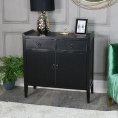 Black Cupboard Unit - Mika Range #homedecor #interiordesign #interiors #interiordesignideas #interiorstyling #interiordecor #myhome #vintage #vintagestyle #homeideas #trends #gold #black #green #golddecor #pineapple