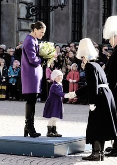 misshonoriaglossop: Crown Princess Victoria celebrated her name day with some help from daughter Princess Estelle, March 12, 2015