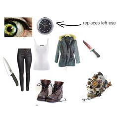 """Clockwork (Creepypasta)"" by skullx24 on Polyvore"