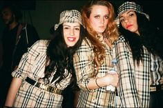 "Celebrating UKG style. Rhiannon Barry (left): ""This is me in head to toe Burberry at the last Wavey Garms party."" More images here: http://www.dazeddigital.com/fashion/article/19438/1/what-we-wore-uk-garage"