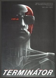 TERMINÁTOR   1984. Autor: MILAN PECÁK. Režie: James Cameron. Filmový plakát. 420x300  Antikvariát PRAŽSKÝ ALMANACH w w w . a r t b o o k . c z