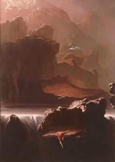 Sadak in Search of the Waters of Oblivion, 1812, by John Martin