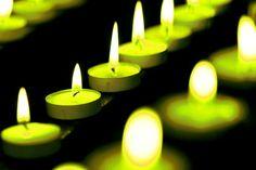 winledin vihreitä kynttilöitä jonossa valaisisemassa maailmaa