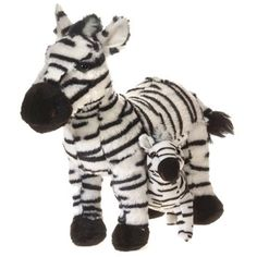 """Mama Zebra with Baby Plush Stuffed Animal Toy by Fiesta Toys - 12"""" ** Read more at the image link. (This is an affiliate link) #PlushFigures"""