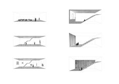 Typology of multifunctional pavilions located in Kassel, Germany. Each pavilion contains another function, depends on current city's needs. Music pavilion, literatur pavilion, movie pavilion, exhibition and DOCUmenta archive pavilion. architecture on hill  author : Mateusz Pietryga