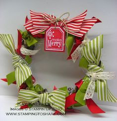 Stamping to Share: 9/20 Ribbon Wreath