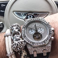 """Heading out for some sunday festivities with @ECJLuxe - #StingHD ❌ #PythonHD ❌ Audemars Piguet Royal Oak Baguette Chrono Tourbillon  #KingOfTheJungle - www.StingHD.com -"" Photo taken by @spjeweler on Instagram, pinned via the InstaPin iOS App! http://www.instapinapp.com (11/23/2014)"