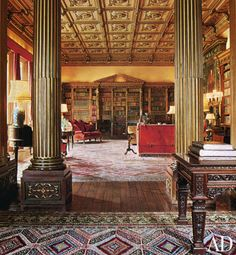 Library at Highclere/Downton