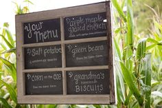 a menu incorporating the bride and groom's 'heritage' foods